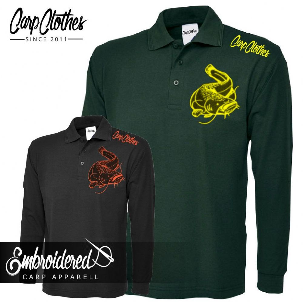 005 EMBROIDERED CAT  LS POLO